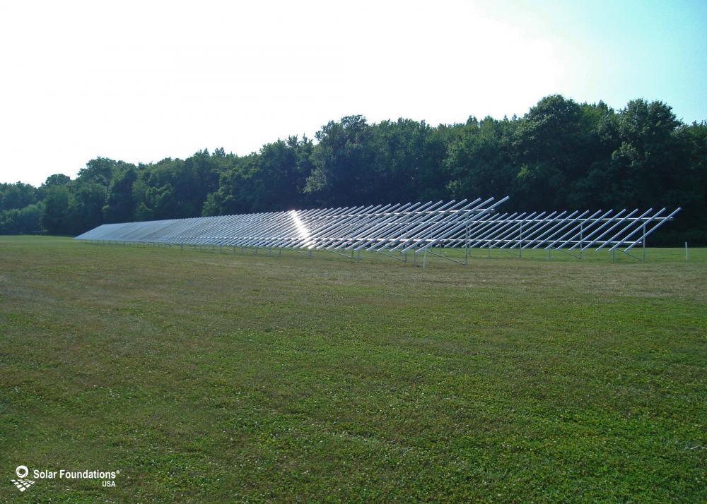 124.80 kW Ground Mount System in Townsend, DE. This featured system is built for (8) 5 panels high in landscape by 13 panel columns wide.