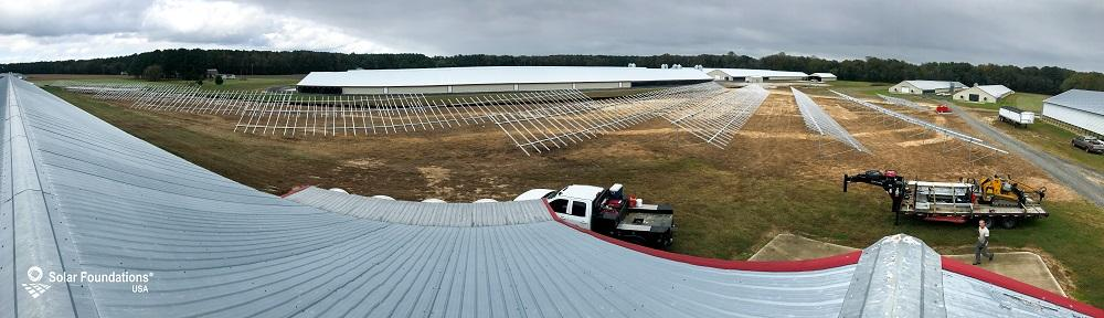 554.76 kW Ground Mount System in Pocomoke City, MD. This featured system is built for (23) 6 panels high in landscape by 12 panel columns wide.