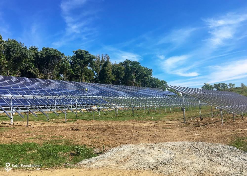 617.76 kW Ground Mount System in Troy, NY. This featured system is built for (24) 6 panels high in landscape by 13 panel columns wide.