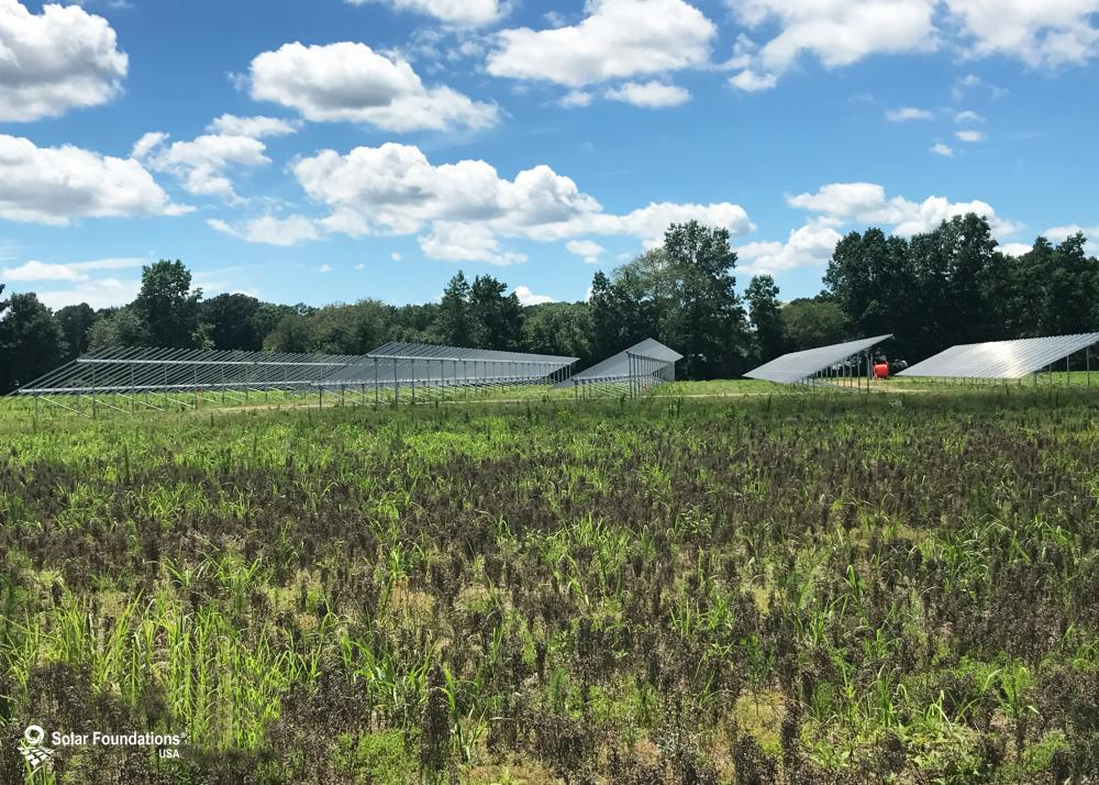 469.80 kW Ground Mount System in Salisbury, MD. This featured system is built for (18) 5 panels high in landscape by 12 panel columns wide.