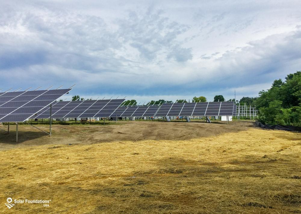 645.84 kW Ground Mount System in Schenectady, NY. This featured system is built for (24) 6 panels high in landscape by 13 panel columns wide.