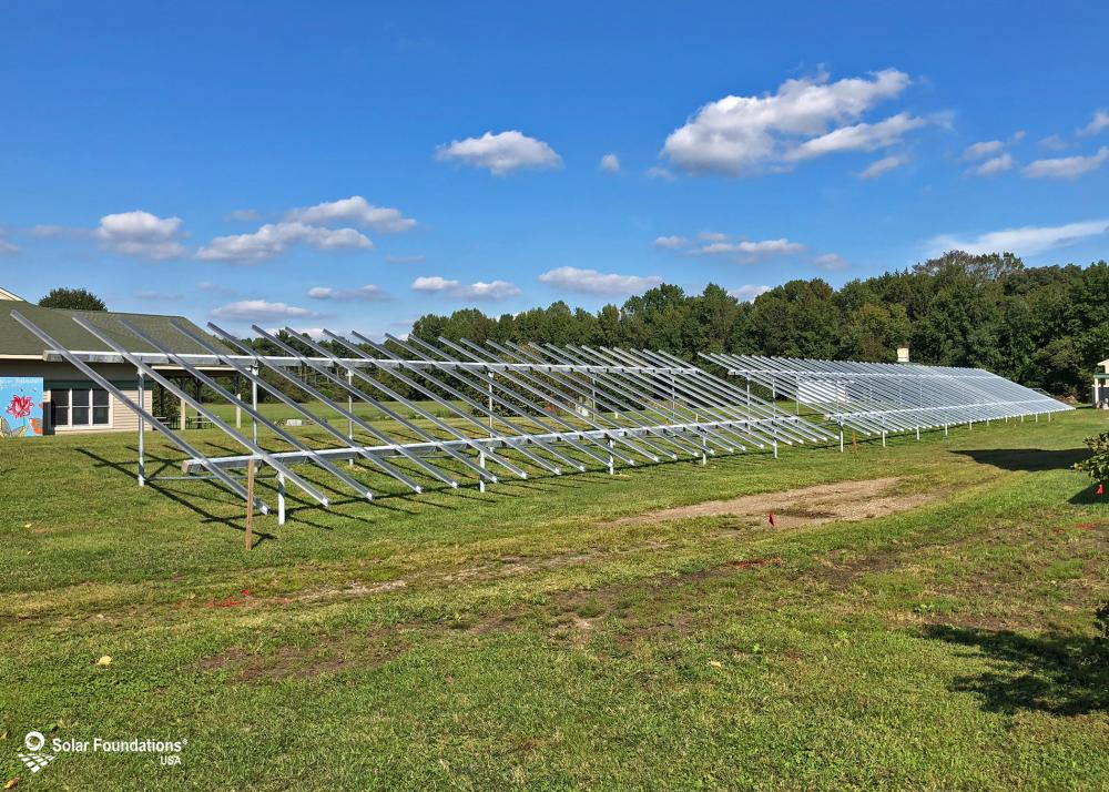 64.8 kW Ground Mount System in Elmer, NJ. This featured system is built for (3) 6 panels high in landscape by 12 panel columns wide.