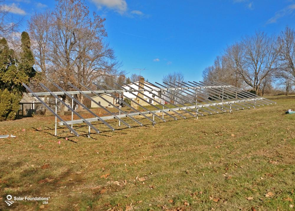 20.88 kW Ground Mount System in Taneytown, MD. This featured system is built for (1) 6 panels high in landscape by 12 panel columns wide.