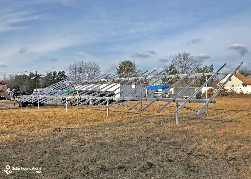 19.14 kW Ground Mount System in Edgewater Park, NJ. This featured system is built for (1) 6 panels high in landscape by 11 panel columns wide.
