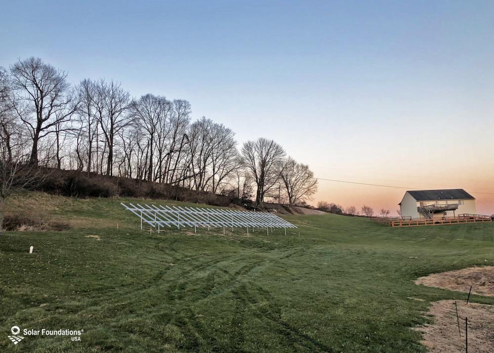 17.4 kW Ground Mount System in Bernville, PA. This featured system is built for (1) 4 panels high in landscape by 13 panel columns wide.