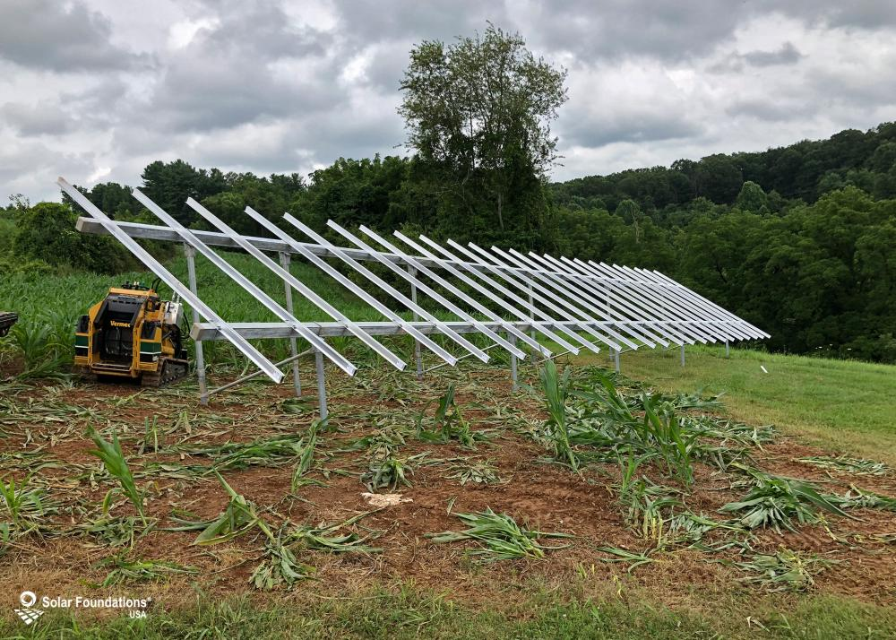 13.68 kW Ground Mount System in Seven Valleys, PA. This featured system is built for 4 panels high in landscape by 12 panel columns wide.