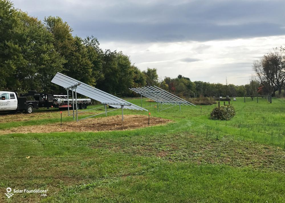 18.00 kW Ground Mount System in Knoxville, MD. This featured system is built for (2) 6 panels high in landscape by 5 panel columns wide.