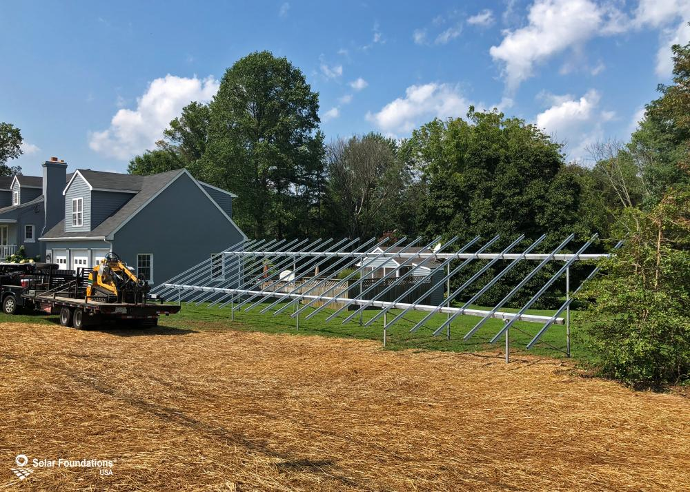 21.6 kW Ground Mount System in Bel Air, MD. This featured system is built for 6 panels high in landscape by 12 panel columns wide.